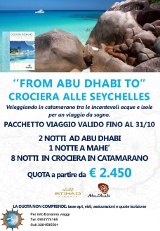 """From Abu Dhabi to"" crociera alle Seychelles"